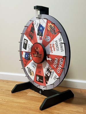 "24"" Removable Graphics Prize Wheel"